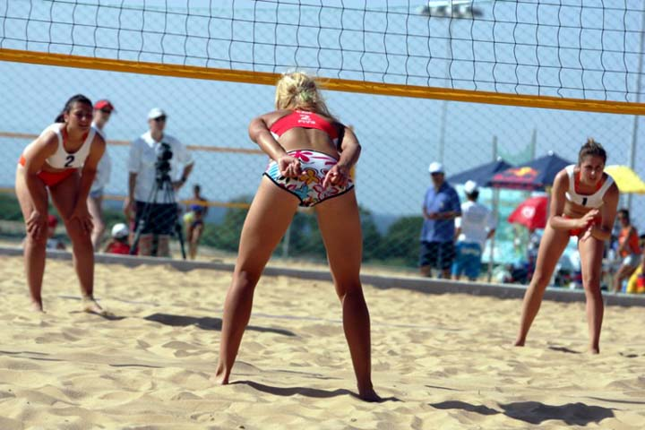 Beach volleyball in Cyprus.